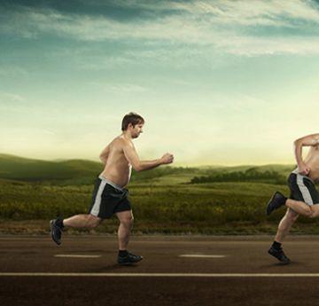 corredores con sobrepeso