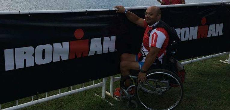 Elías Lucero, rumbo al Ironman de Mar del Plata (foto: archivo personal E.L.)