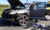 conductora atropelló a un pelotón de ciclistas