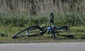 Así quedó la bici de la ciclista fallecida. Crédito foto: En Línea Noticias