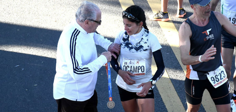 Daiana Ocampo en acción