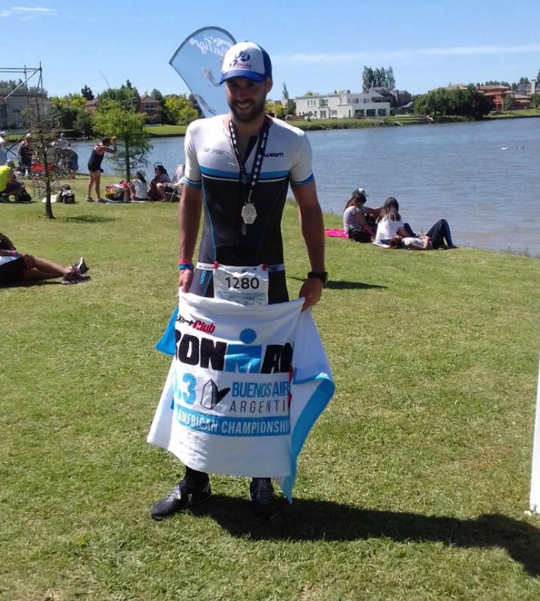 Federico Cornali, editor de atletas.info, en el Ironman 70.3 Buenos Aires 2018