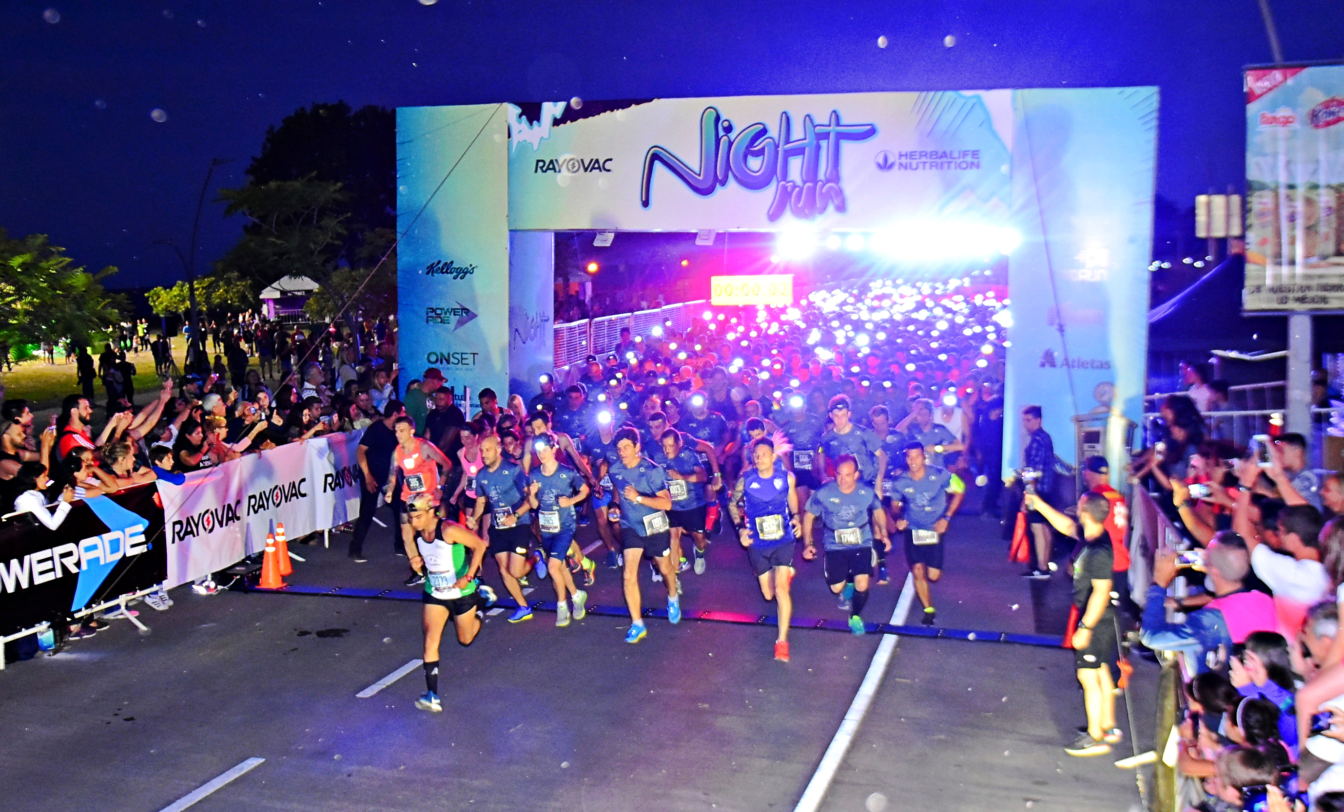 A pura energía en la Night Run