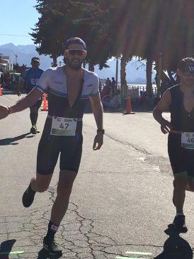 Federico Cornali, editor de atletas.info, en el Ironman 70.3 Bariloche