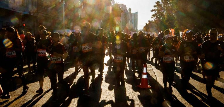 Maratón de Santiago multitudinaria