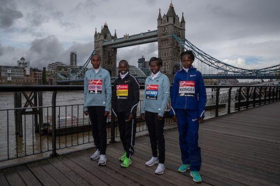 La elite femenina de la Maratón de Londres 2019