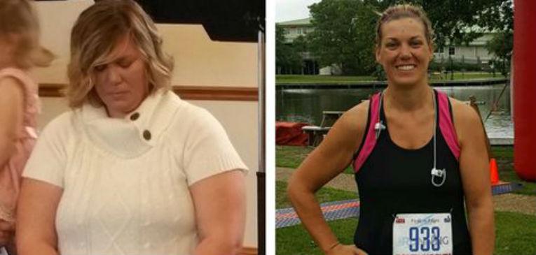 Nicole Holderfield, antes y después.