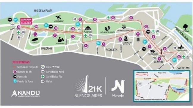 21K Buenos Aires 2019, el recorrido