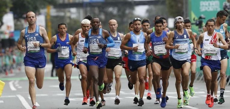 Barzola y Mastromarino, en el pelotón de la Maratón de los Juegos Panamericanos
