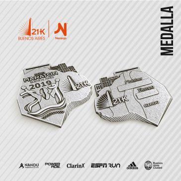 La medalla del Medio Maratón de Buenos Aires 2019