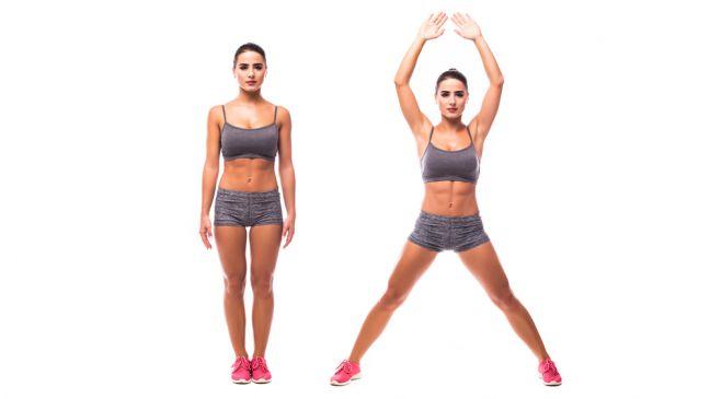 Jumping Jack, un infaltable entre los ejercicios para bajar de peso