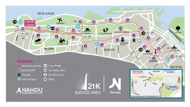 Así será el recorrido de los 21K de Buenos Aires