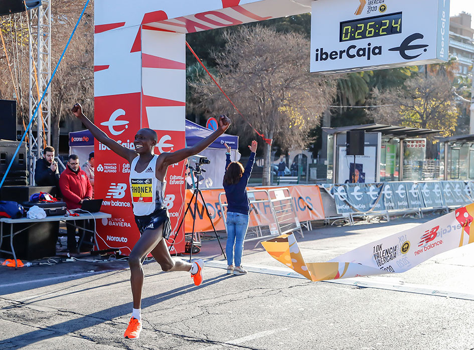 Rhonex Kipruto, nuevo récord mundial de 10k
