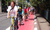 Ciclistas engajados da cidade de São Paulo d