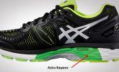 As placas de estabilidade, na maior parte dos tênis de pronação encontrados no mercado de corrida, estão posicionadas na parte interna da entressola