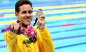 Durante a cerimônia do Prêmio Brasil Olímp