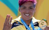 A brasileira Ana Marcela Cunha venceu, na man