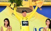 Froome com uma mão no título do Tour de France