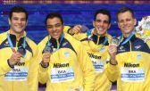 Brasil conquista prata histórica no 4x100 masculino do Mundial