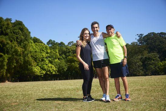 Seu João, seu filho e sua neta: uma história de amor pela corrida