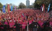 Corrida caminata para ganarle al cáncer de mama