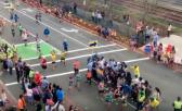 peatones en la maratón de boston