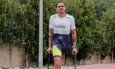 Fabio Rigueira, en la competición de muletas